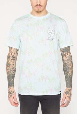 T-Shirt Motif Flamants Néons Zoo York Homme
