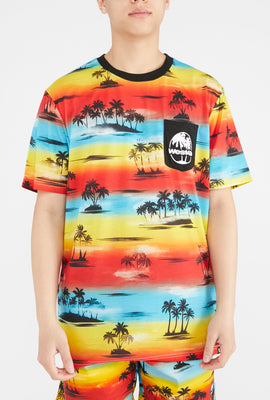 West49 Mens Beach Print Pocket T-Shirt