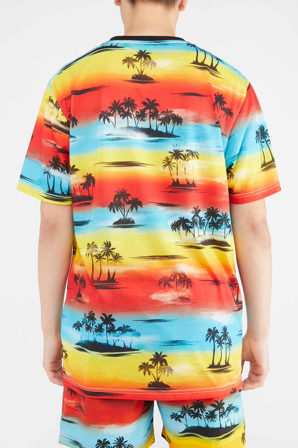 T-Shirt Couché de Soleil West49 Homme Multi