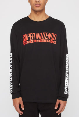 Mens Super Nintendo Long Sleeve Shirt