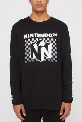 Mens Nintendo 64 Long Sleeve