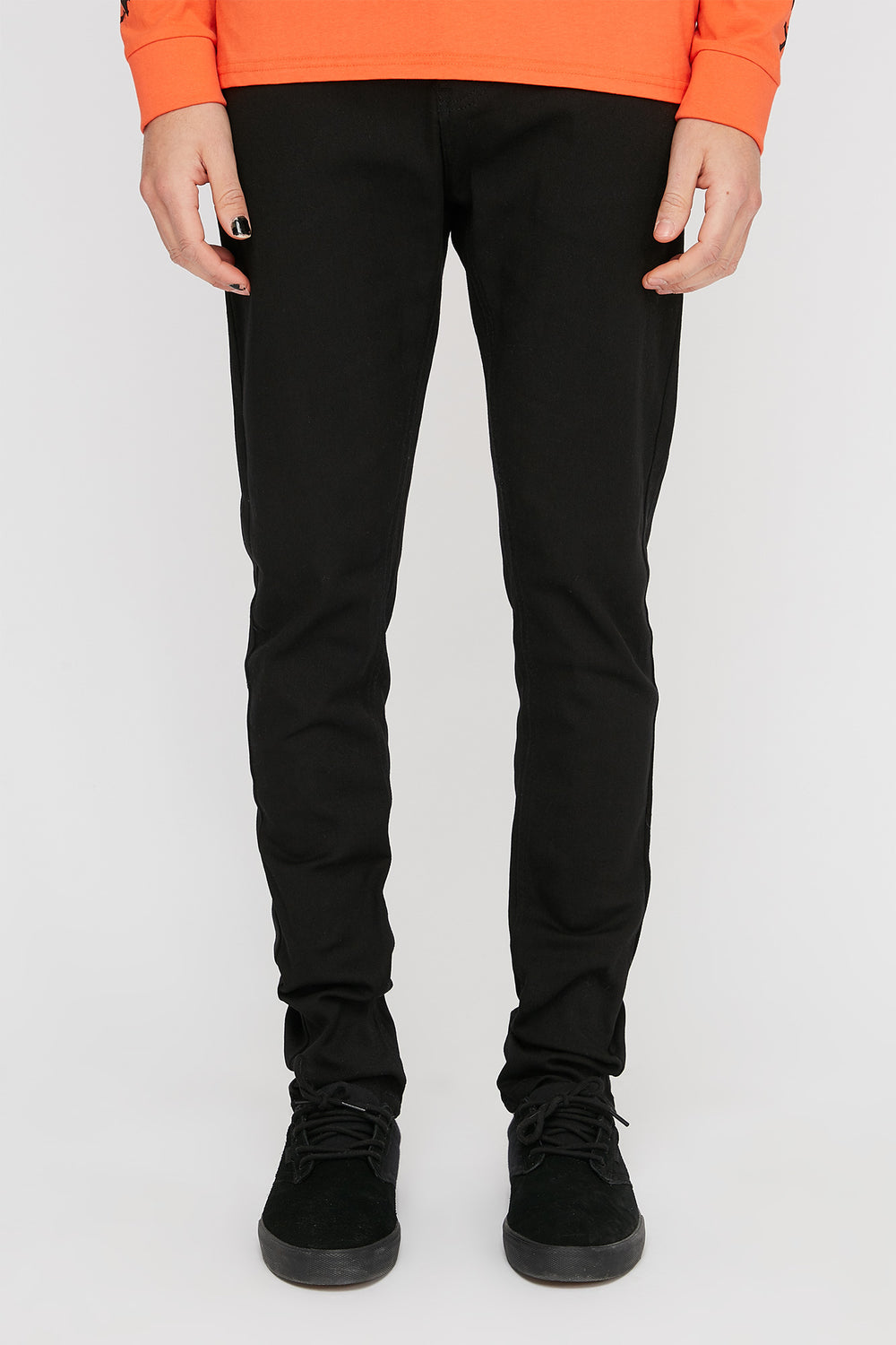 Zoo York Mens Stretch Slim Jeans Black