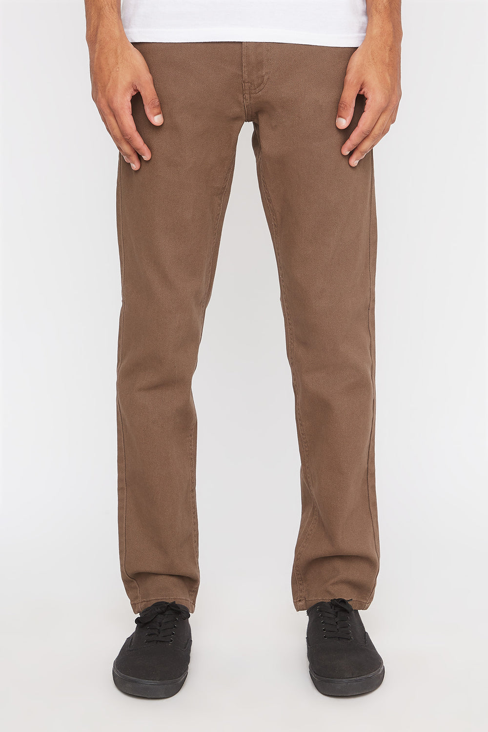 Zoo York Mens Stretch Slim Jeans Brown