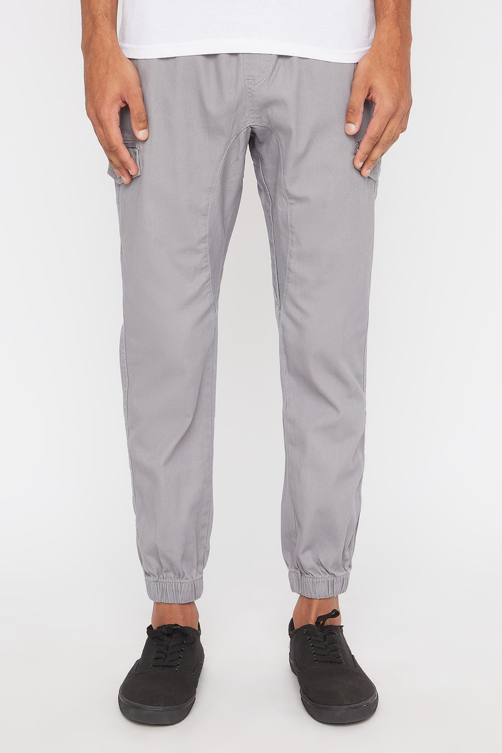 West49 Mens Cargo Jogger Heather Grey