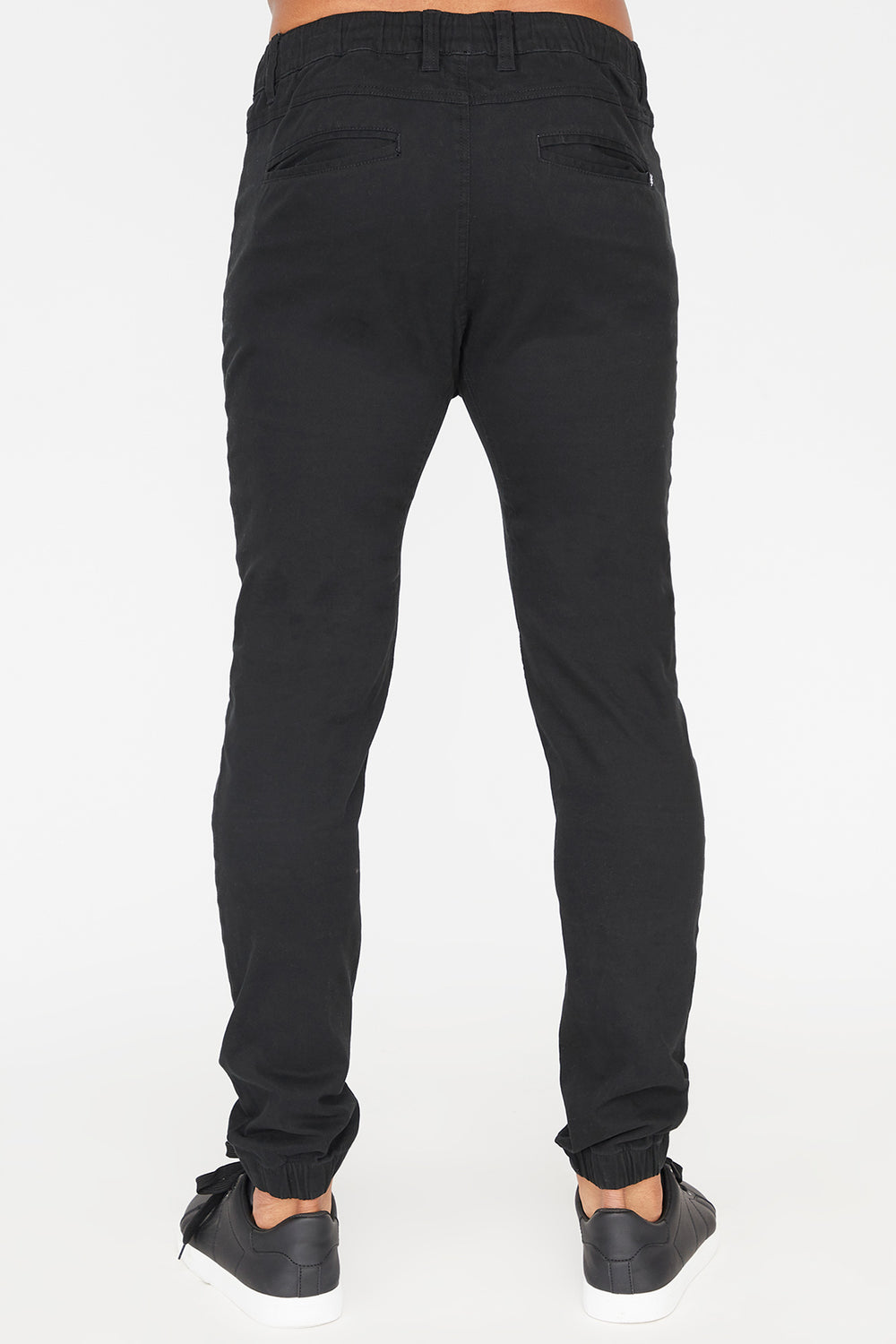 Zoo York Mens Solid Twill Zip Jogger Black
