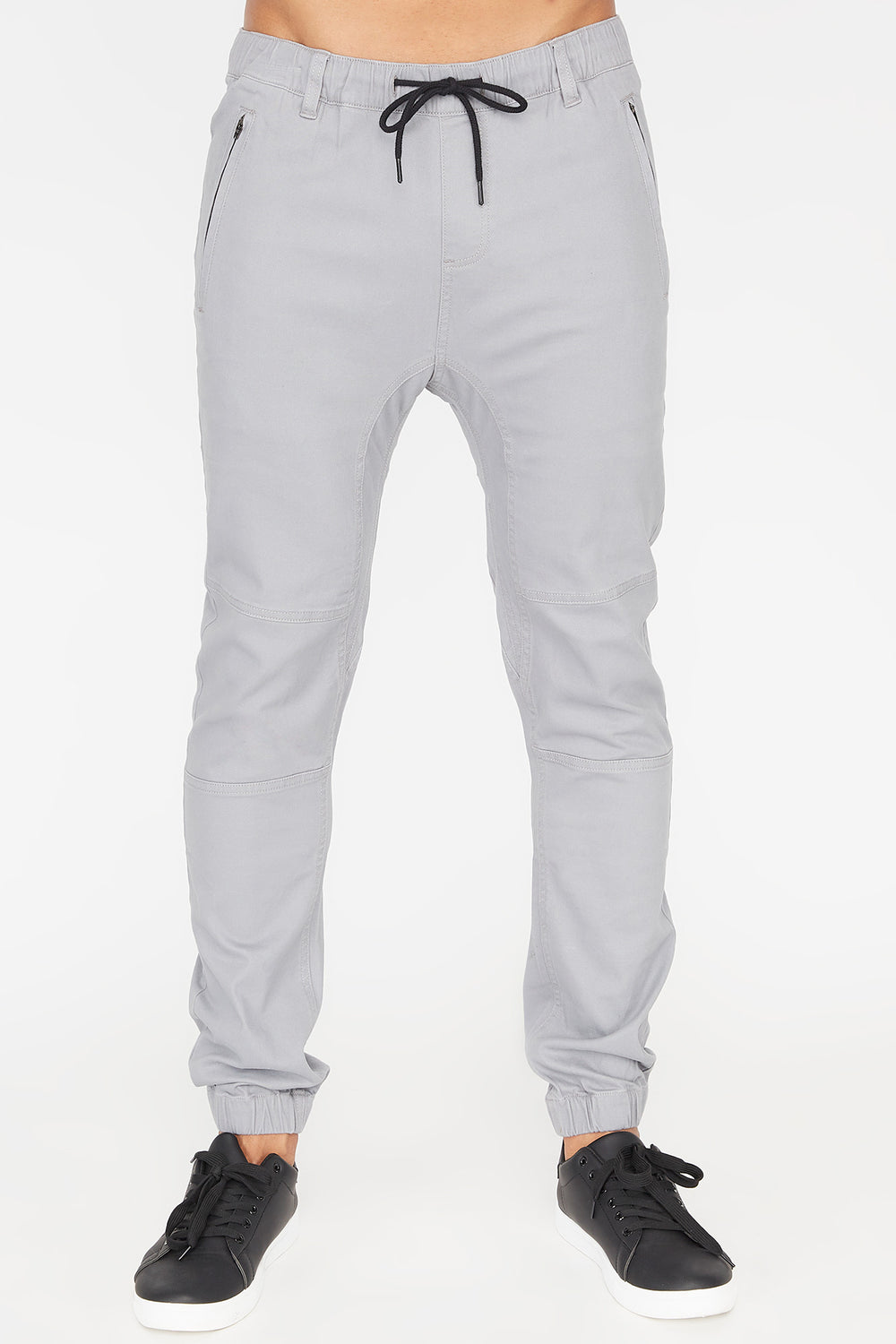Zoo York Mens Solid Twill Zip Jogger Heather Grey