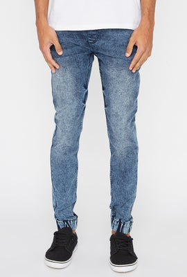 Zoo York Mens 5-Pocket Acid Wash Jogger Jean