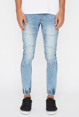 Zoo York Mens 5-Pocket Light Wash Jogger Jean