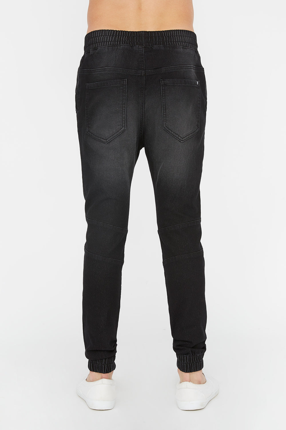 Zoo York Mens Denim Moto Jogger Black