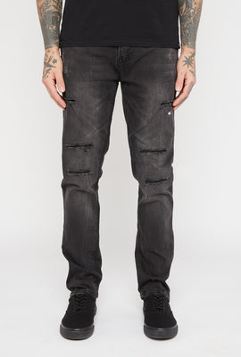 Jeans Filiforme d'Aspect Usé Zoo York Homme