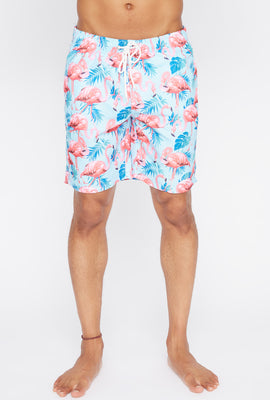 Short de Plage Flamant Rose Homme