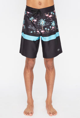 Short de Surf Avec Motif Flamants Roses Zoo York Homme