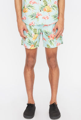 Short Avec Motif Tropical Zoo York Homme