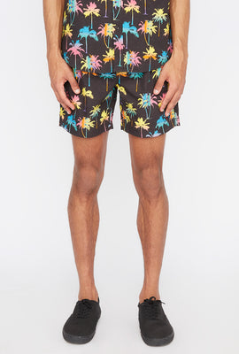 West49 Neon Palm Tree Boardshort