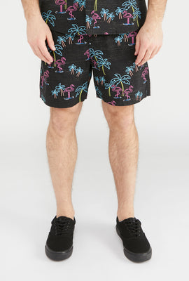 Short Imprimé Flamant Rose Zoo York Homme