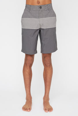West49 Mens Striped Colour Block Board Shorts