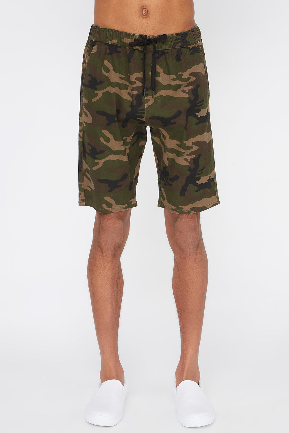 West49 Mens Camo Jogger Short Camouflage