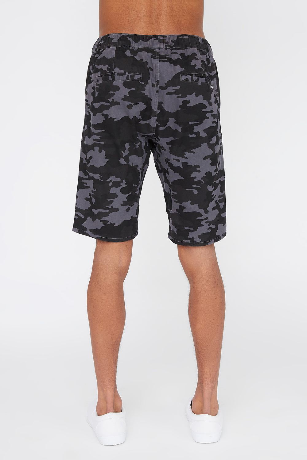West49 Mens Camo Jogger Short Gingham