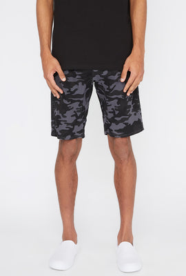 West49 Mens Camo Jogger Short