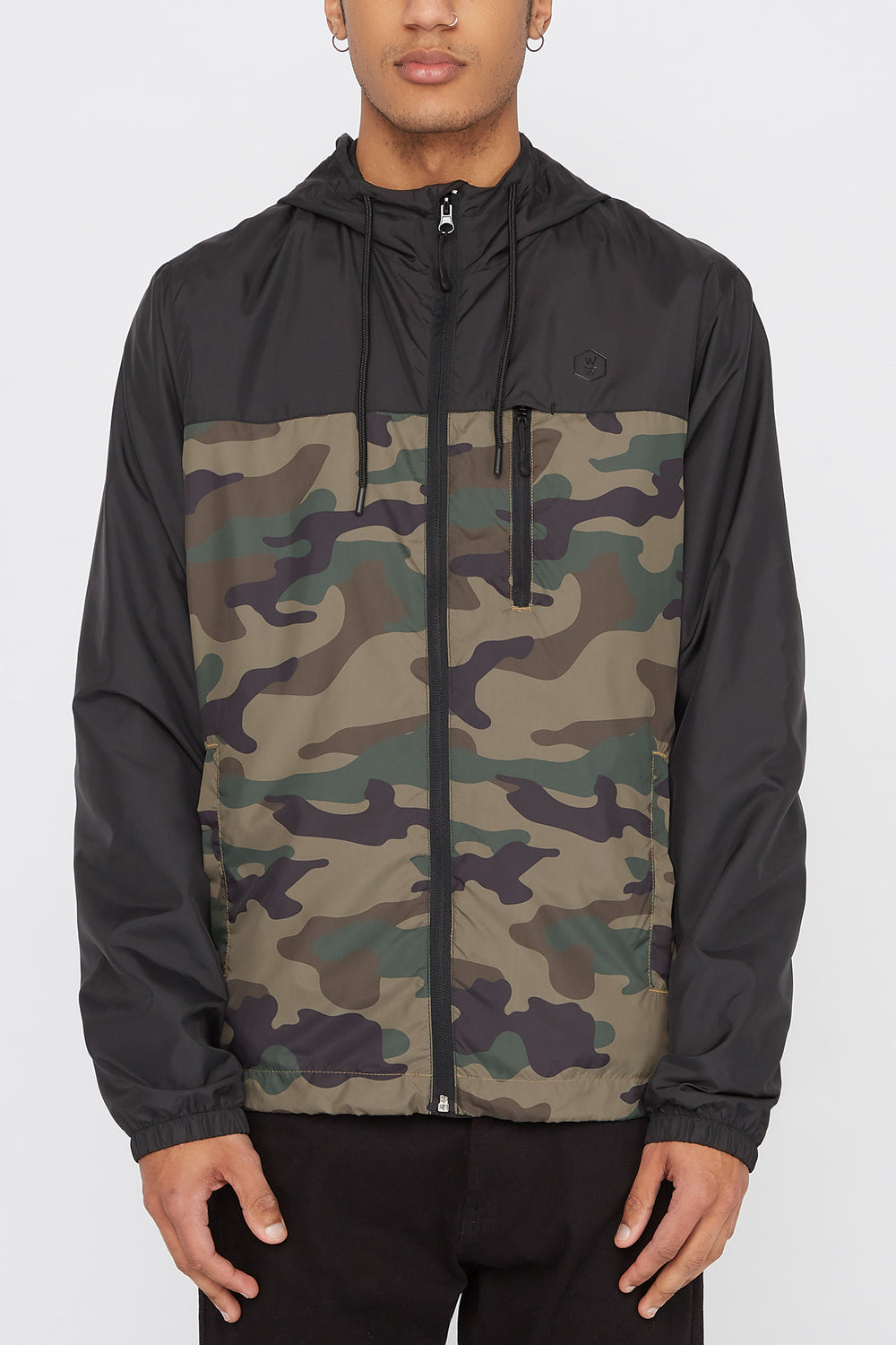 West49 Mens Camo Jacket Black