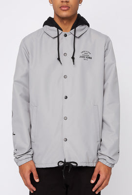 Zoo York Mens Snap-Button Hooded Jacket