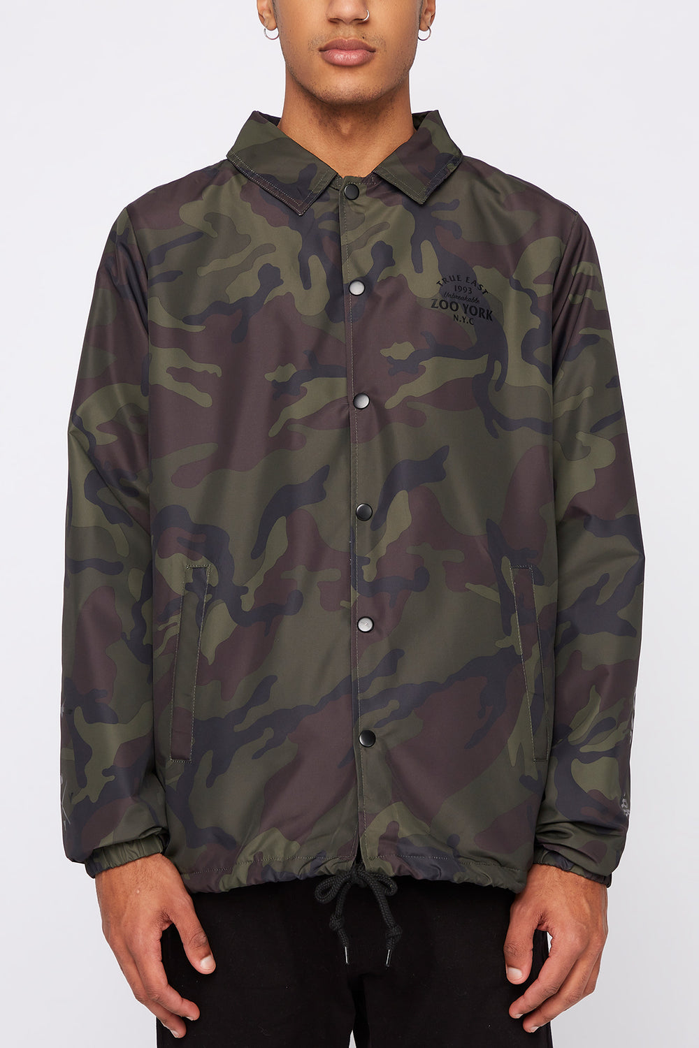 Manteau À Boutons-Pression Zoo York Homme Camoufle