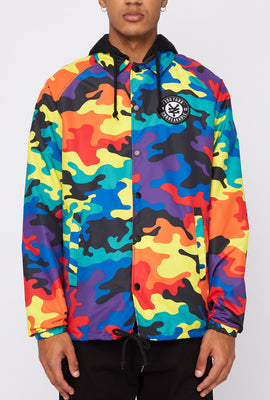 Zoo York Mens Rainbow Camo Hooded Jacket