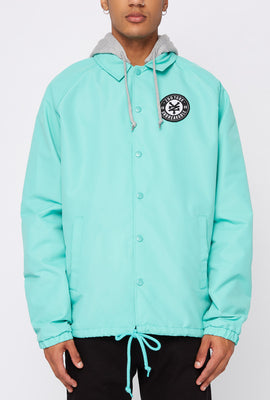 Zoo York Mens Patch Logo Coach Jacket