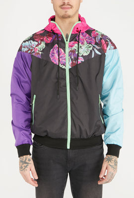 Young & Reckless Mens Colour Block Full Zip-Up Windbreaker