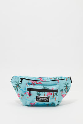 Zoo York Flamingo Print Fanny Pack