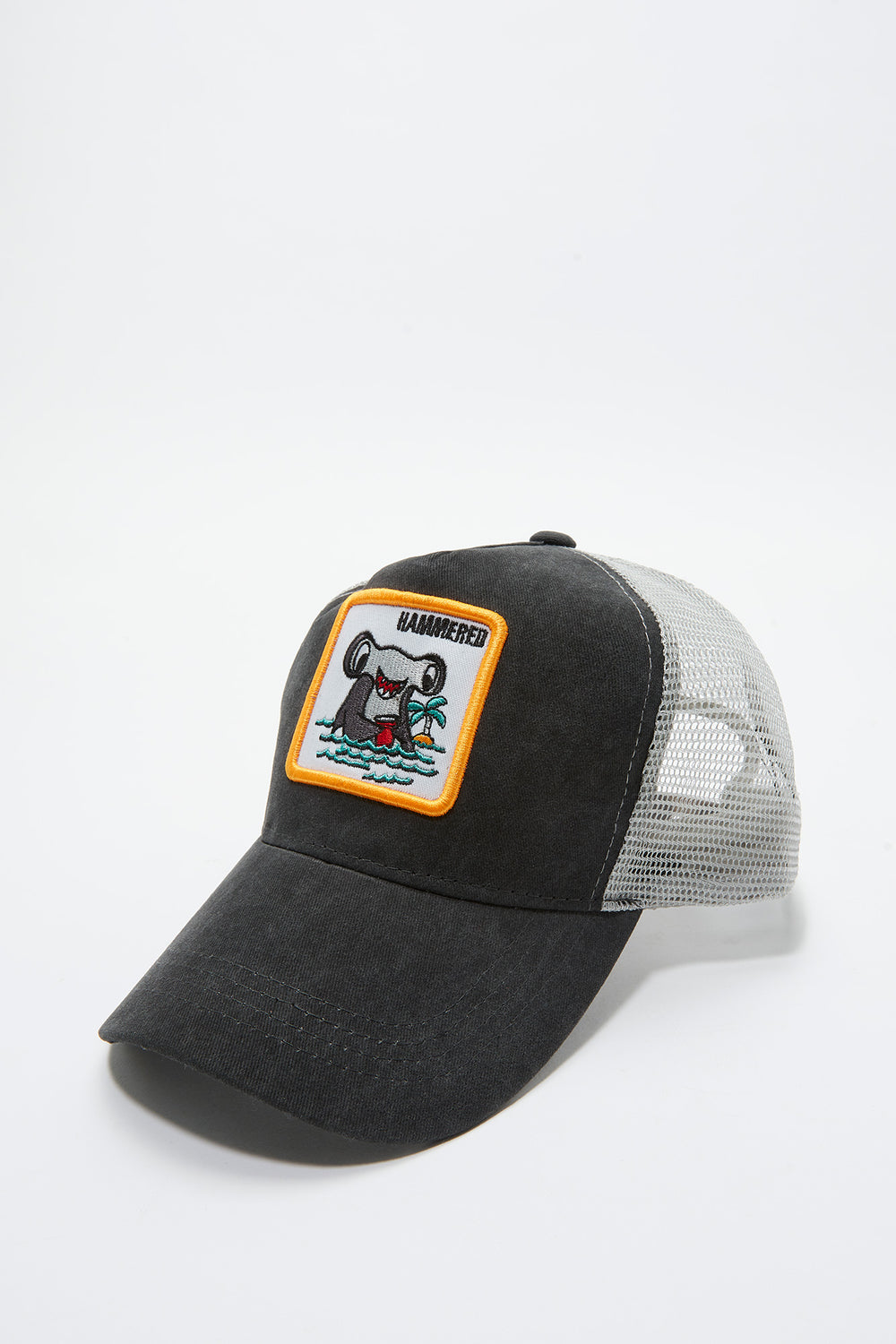 Amnesia Mens Patch Hat Charcoal