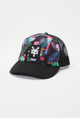 Casquette Trucker Imprimé Tropical Zoo York Unisexe