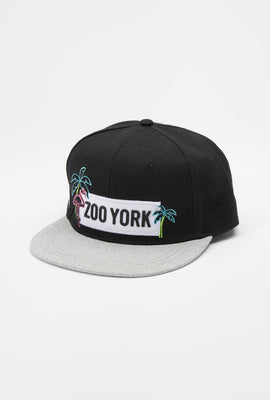 Zoo York Mens Neon Flamingo Patch Logo Hat