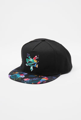 Zoo York Mens Tropical Print Snapback Hat