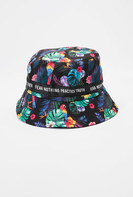 Zoo York Mens Tropical Print Bucket Hat