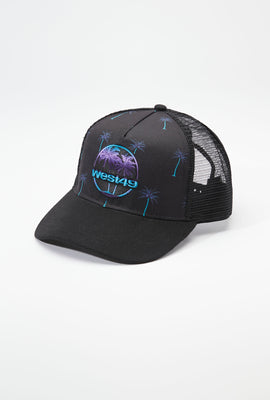 West49 Mens Graphic Print Trucker Hat