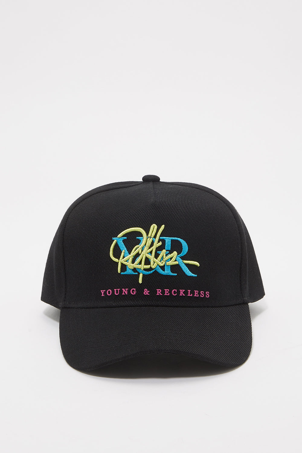 Young & Reckless Mens Retro Logo Hat Black