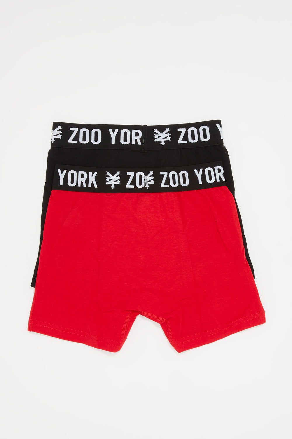 Zoo York Mens 2-Pack Cotton Boxer Briefs Red