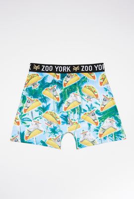 Zoo York Mens Sloth Burrito Boxer Brief