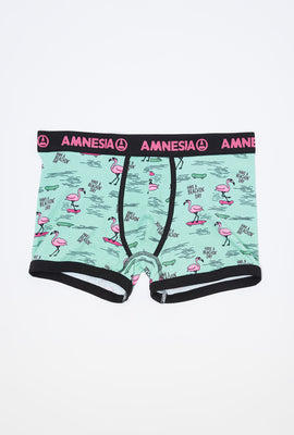 Amnesia Mens Graphic Boxer Brief