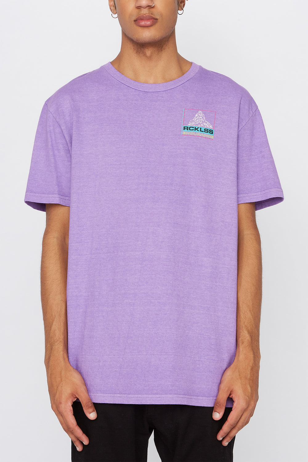 T-Shirt Logo Géométrique Young & Reckless Homme Violet