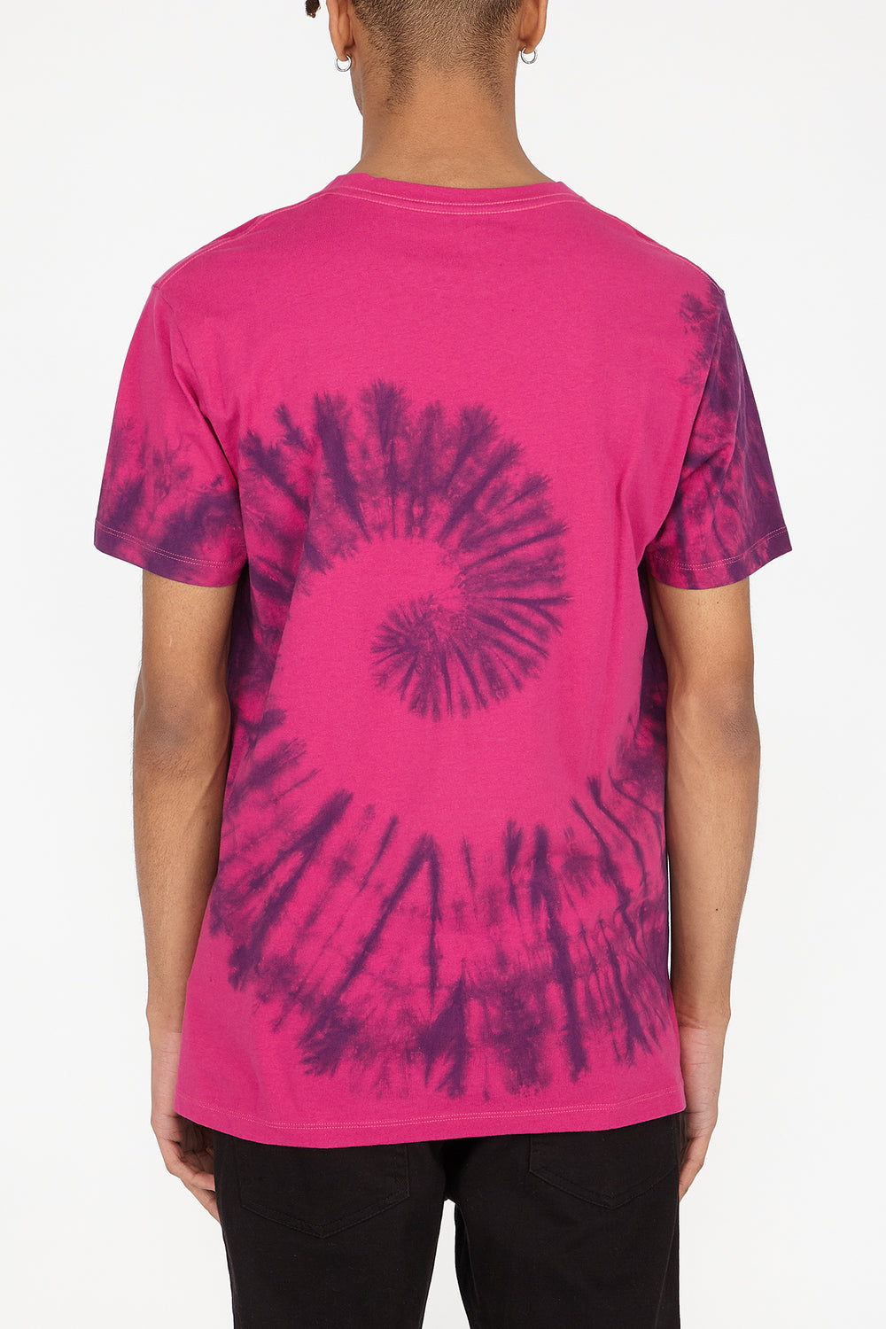 T-Shirt Tie-Dye Young & Reckless Homme Violet