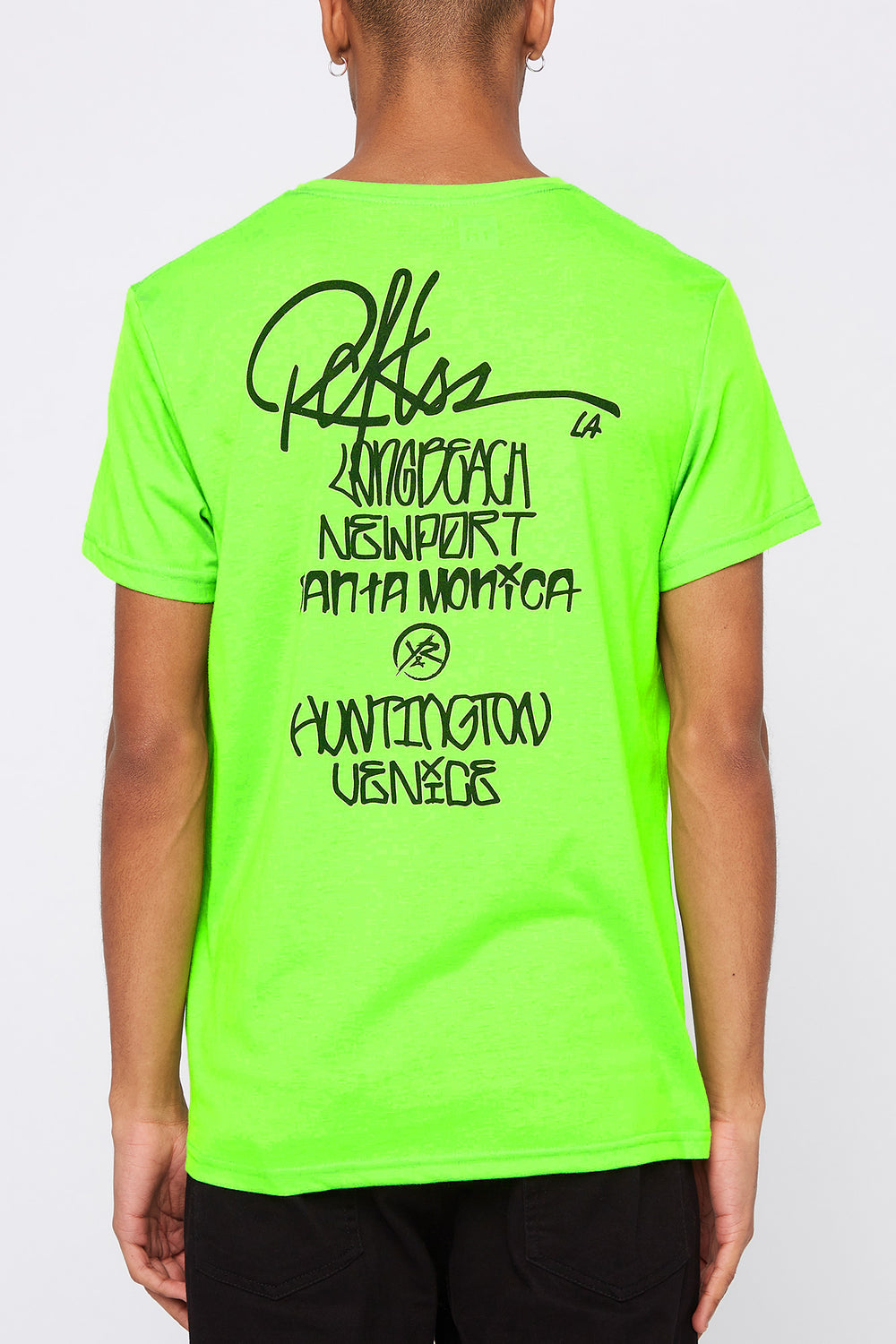 T-Shirt Fluo LA Young & Reckless Homme Vert fluo