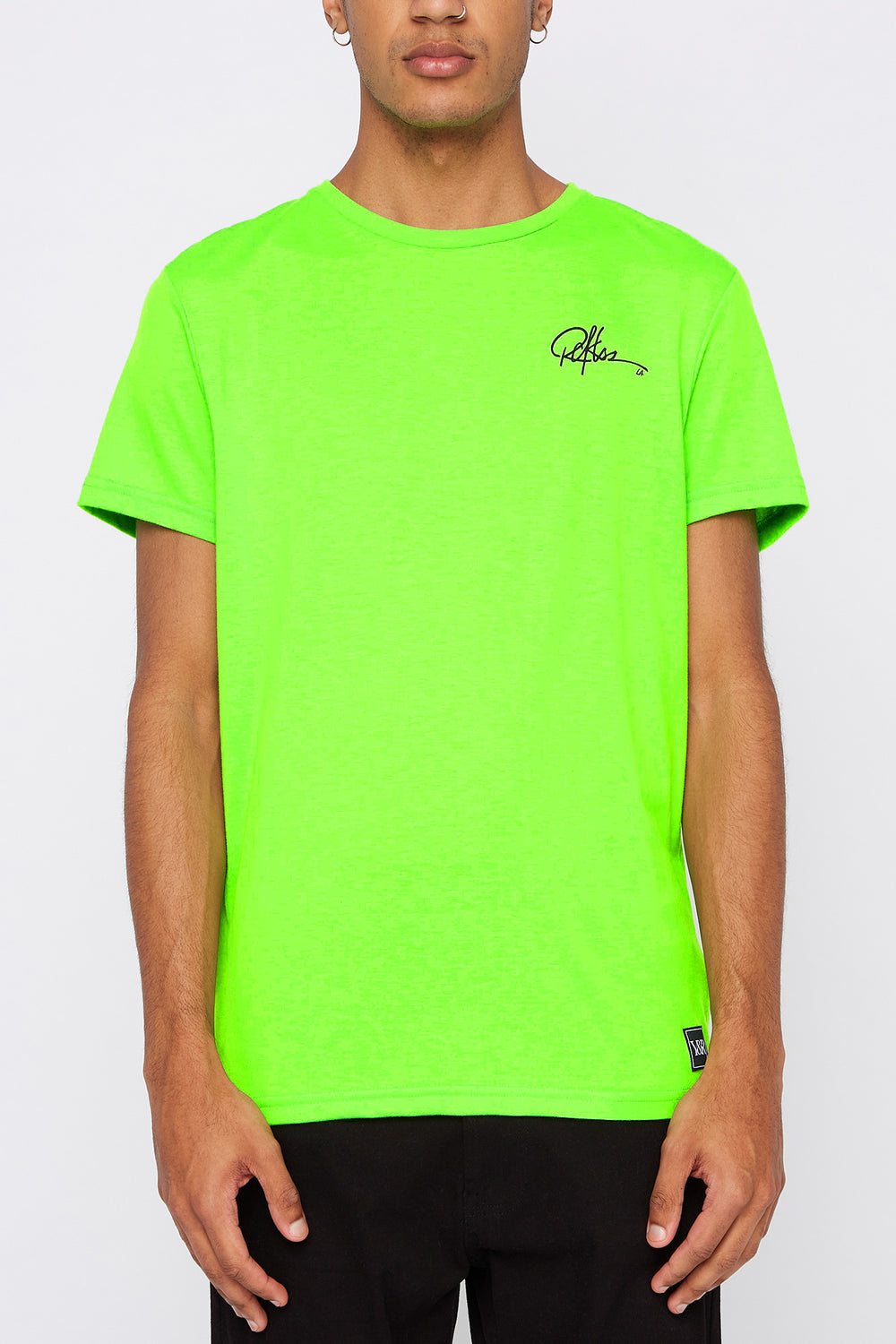 Young & Reckless Mens Neon Cities Of LA T-Shirt Neon Green