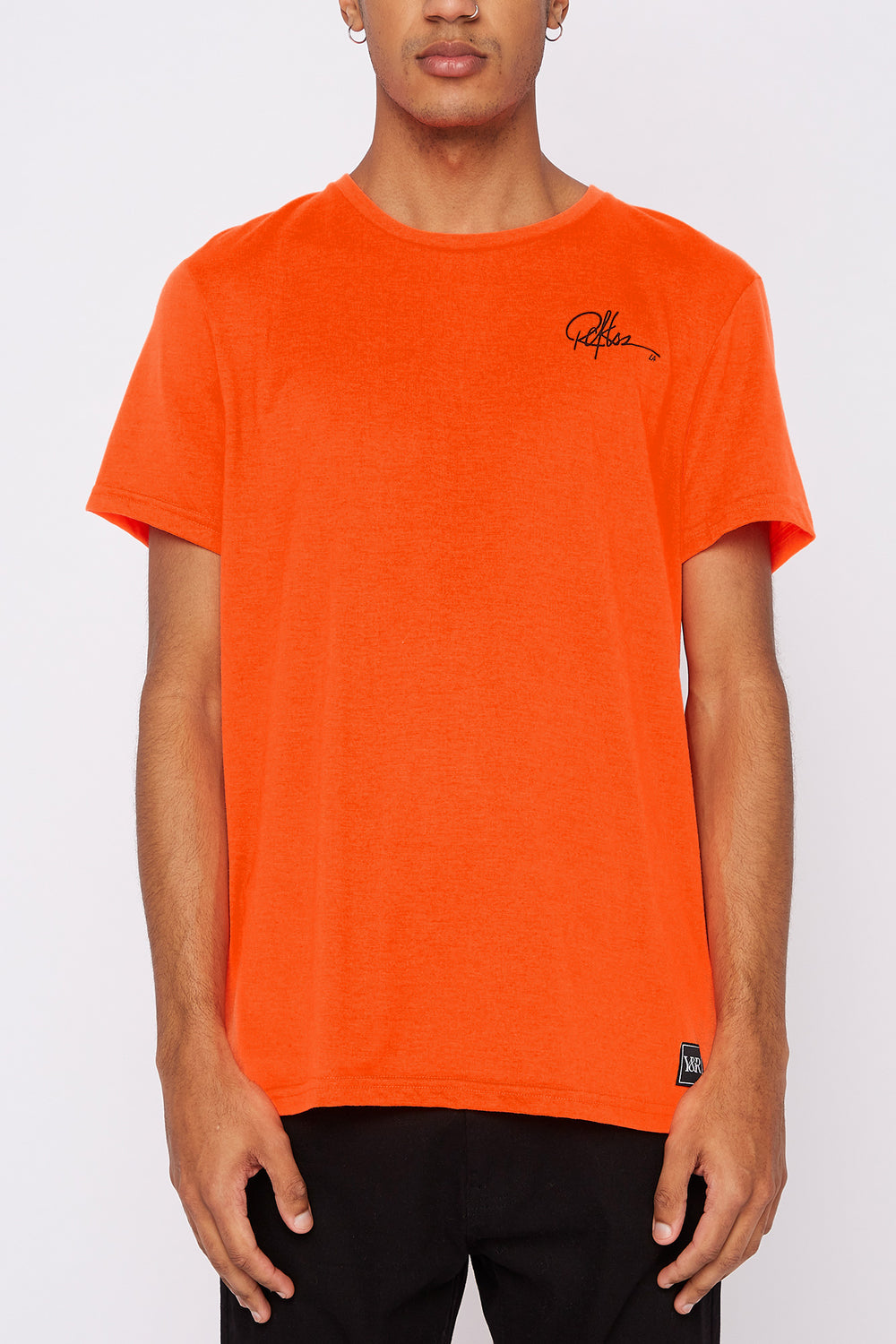 Young & Reckless Mens Neon Cities Of LA T-Shirt Orange