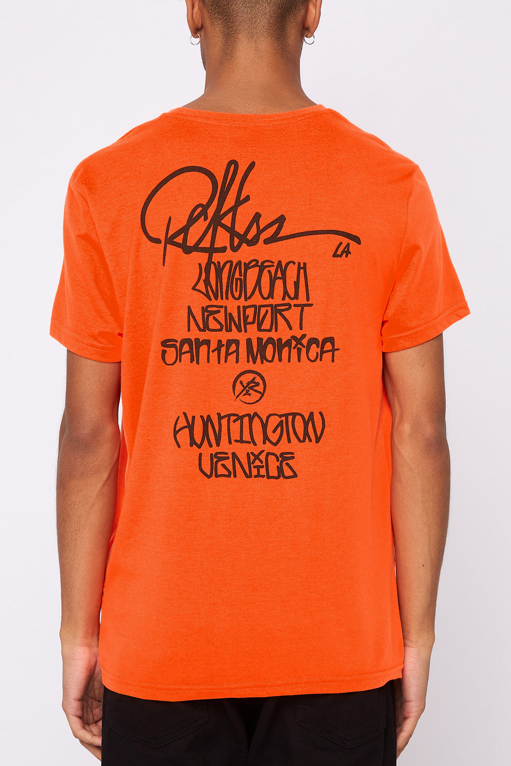 T-Shirt Fluo LA Young & Reckless Homme Orange