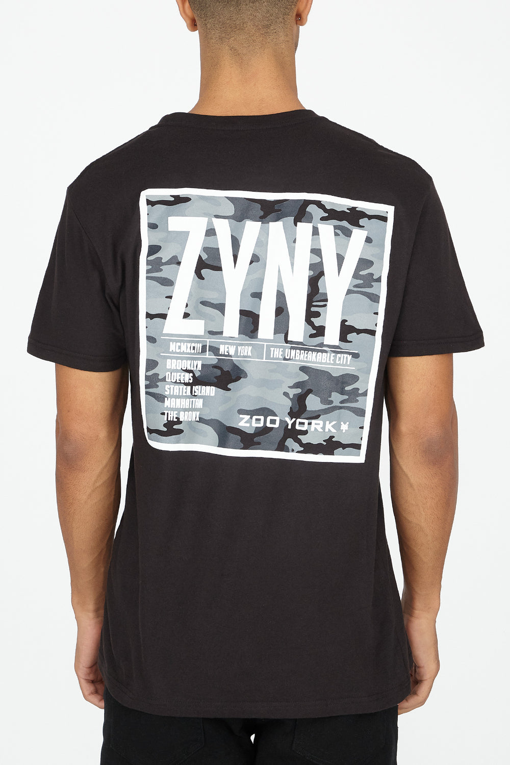 Zoo York Mens Camo Box Logo T-Shirt Black