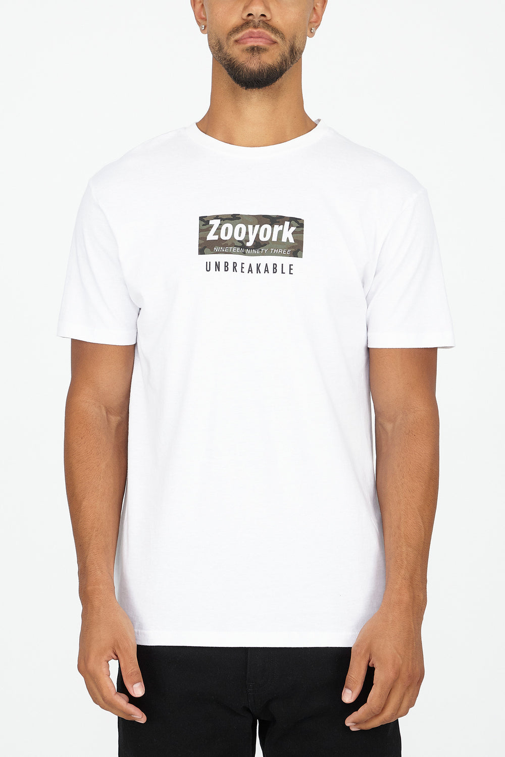 Zoo York Mens Camo Box Logo T-Shirt White
