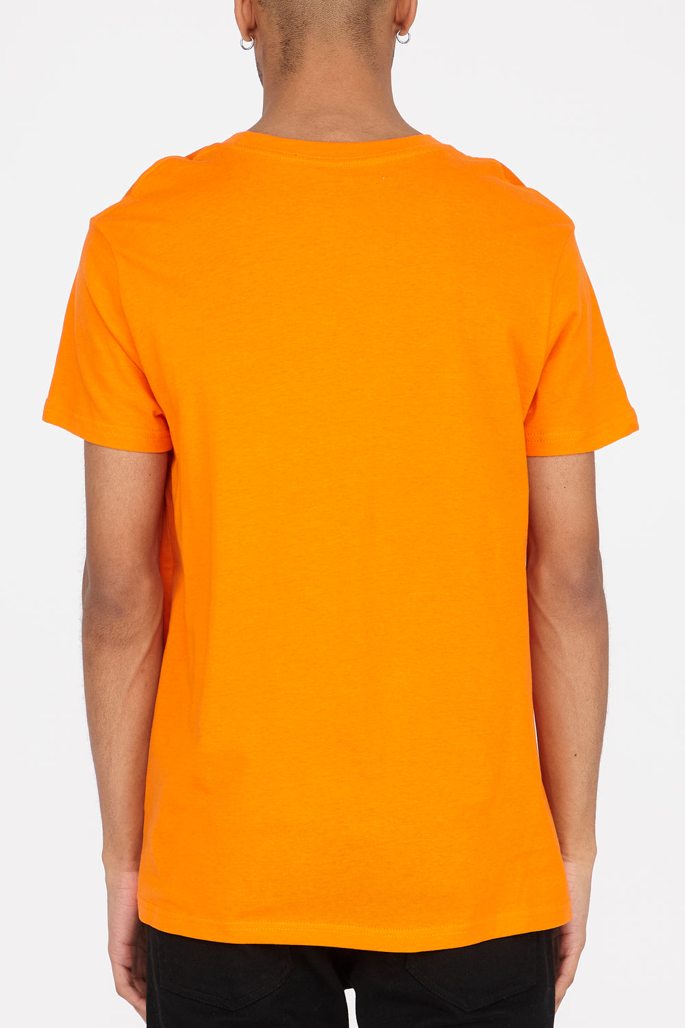 T-Shirt Logo Reckless Rayé Homme Orange