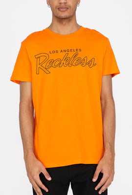 T-Shirt Logo Reckless Rayé Homme